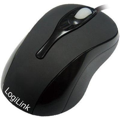LogiLink Optical Mini Notebook Mouse Black (ID0025)