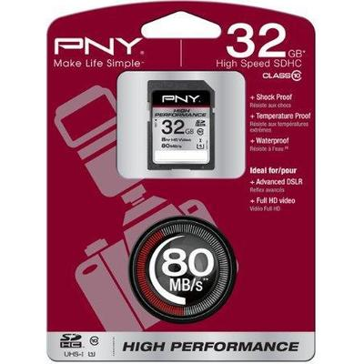 PNY SDHC High Performance 80MB/s 32GB