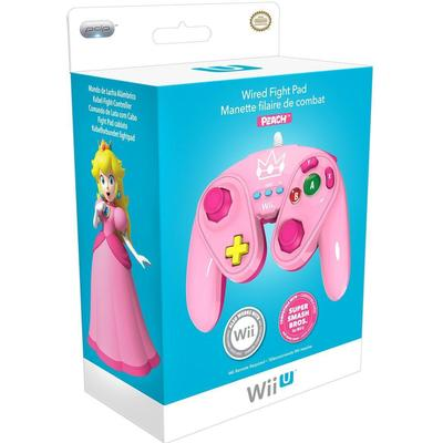 PDP Wii U Fight Pad Controller - Peach Edition