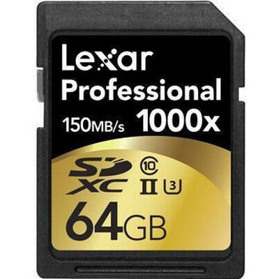 Lexar Media SDXC Professional UHS-II U3 150MB/s 64GB (1000x)
