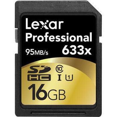 Lexar Media SDHC Professional UHS-I U1 95MB/s 16GB (633x)