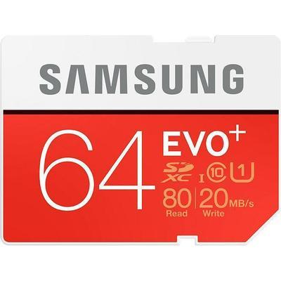 Samsung Evo+ SDXC UHS-I U1 80/20MB/s 64GB