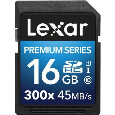 Lexar Media Premium SDHC UHS-I U1 45MB/s 16GB (300x)