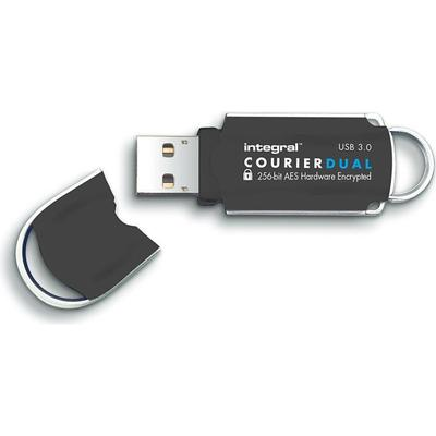 Integral Courier Dual FIPS 197 Encrypted 32GB USB 3.0