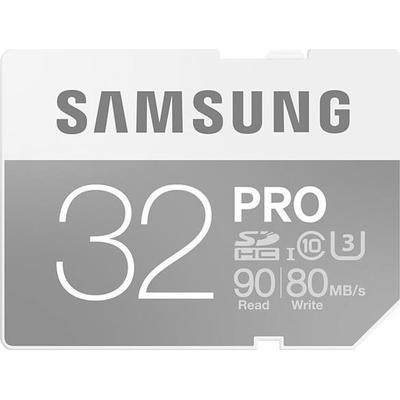 Samsung SDHC Pro UHS-I U3 90/80MB/s 32GB