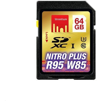 Strontium Nitro Plus SDXC UHS-I U3 95/85MB/s 64GB