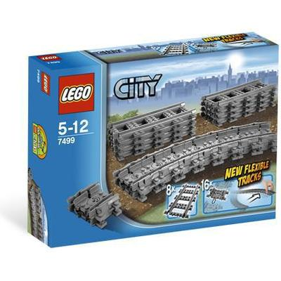 Lego City Flexible and Straight Tracks 7499