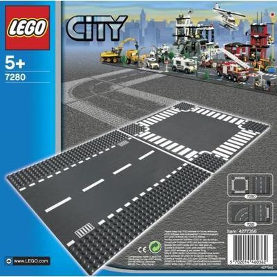 Lego City Straight & Crossroad Plates 7280