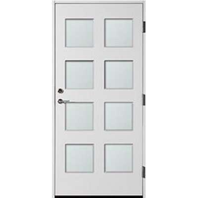 Polardörren 8 Square Ytterdörr Frostat glas S 0502-Y V (100x210cm)