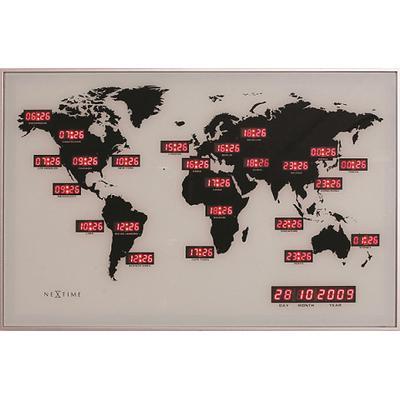 Nextime World Time Digit 55cm Väggklocka