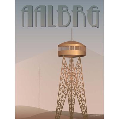 Vissevasse Aalborg Tower 30x40cm Affisch