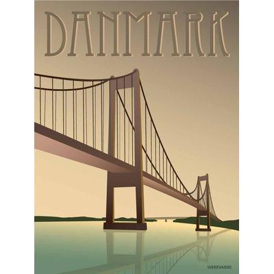 Vissevasse Denmark Little Belt Bridge 30x40cm Affisch