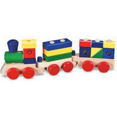 Melissa & Doug Stacking Train Tåg Med Klossar