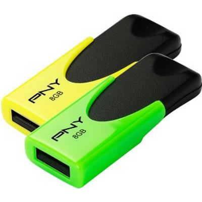 PNY N1 Attache Twin Pack 8GB USB 2.0