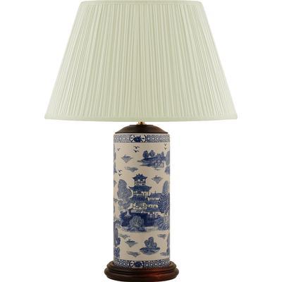 Mr Fredrik Penmodel, Blue, Willow Pattern Lampdel