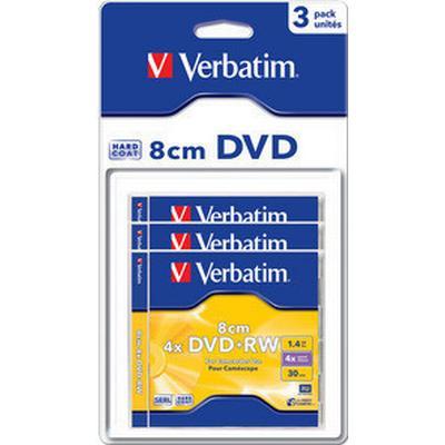 Verbatim DVD+RW 1.4GB 4x Jewelcase 3-Pack 8cm