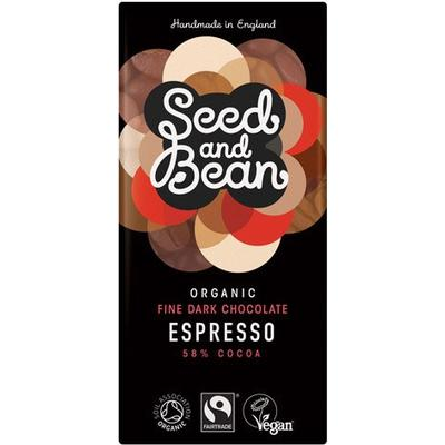 Seed and Bean Organic Company Dark Chocolate with Espresso4-pack