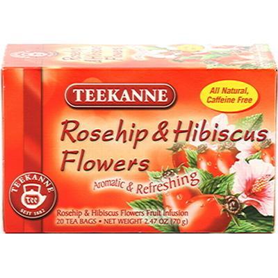 Castus Nypon & hibiskusblommor 20 Tepåsar