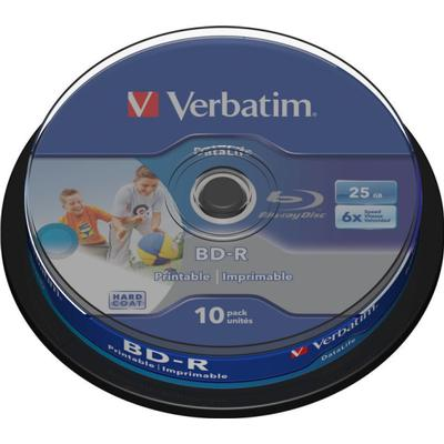 Verbatim BD-R 25GB 6x Spindle 10-Pack Inkjet