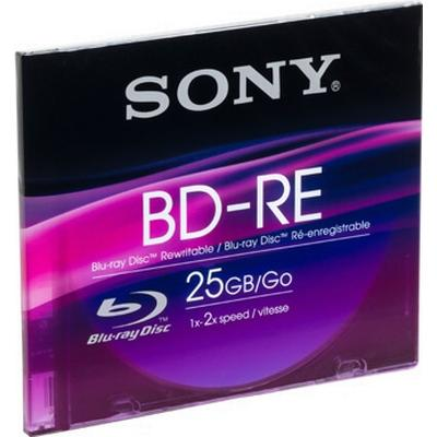Sony BD-RE 25GB 2x Slimcase 1-Pack