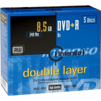 Intenso DVD+R 8.5GB 8x Jewelcase 5-Pack