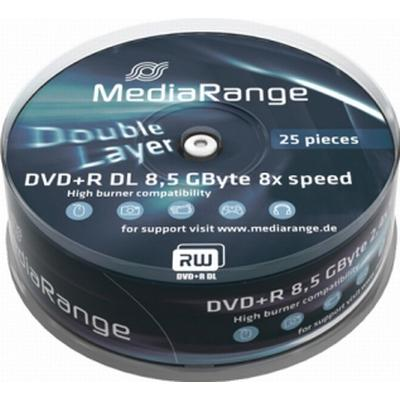 MediaRange DVD+R 8.5GB 8x Spindle 25-Pack