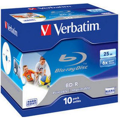 Verbatim BD-R 25GB 6x Jewelcase 10-Pack Inkjet