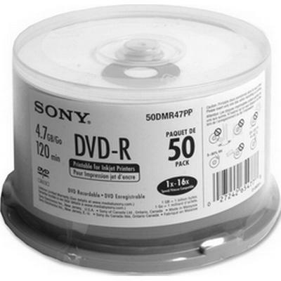 Sony DVD-R 4.7GB 16x Spindel 50-Pack Inkjet