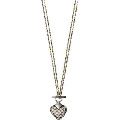 Pilgrim Shimmer Heart Halsband 2In1 - Guld - Hitta bästa pris ... db6ecbc64fd70