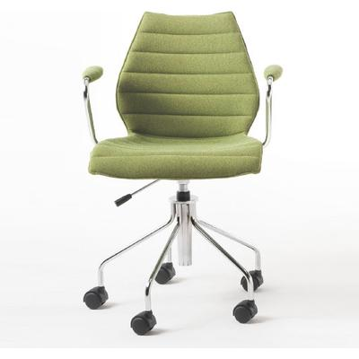 Kartell Maui Soft Chair with armrest+wheels Trevira Kontorsstol