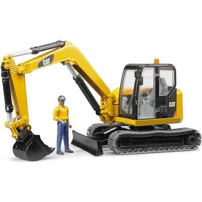 Bruder Cat Mini Excavator With Worker 02466