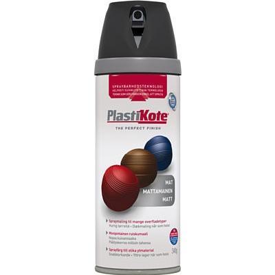Plasti-Kote Twist & Spray Color Matt Black Ral 9005 400ml