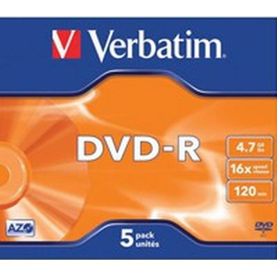 Verbatim DVD-R 4.7GB 16x Jewelcase 5-Pack