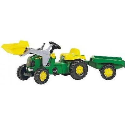 Rolly Toys Rolly Kid John Deere Tractor & Frontloader & Trailer