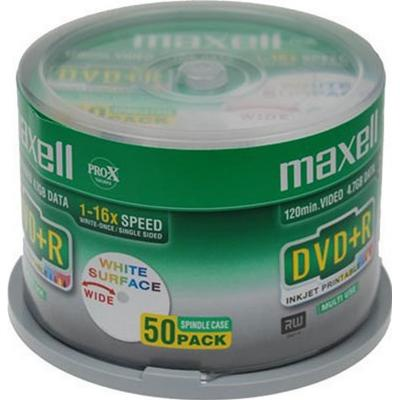 Maxell DVD+R 4.7GB 16x Spindle 50-Pack Inkjet