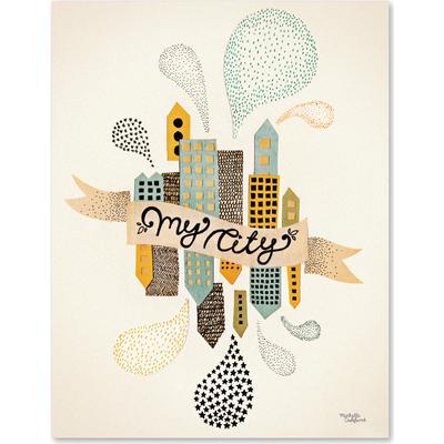 Michelle Carlslund My City Two 50x70cm Affisch