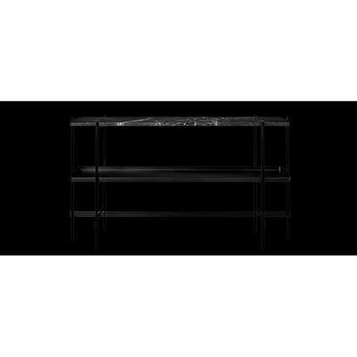 Gubi 'TS Console 2' Sideboard Svart marmor/Svart bricka/Svart metall 120x72x30 cm