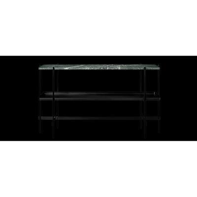 Gubi 'TS Console 2' Sideboard Grön marmor/Svart bricka/Svart metall 120x72x30 cm