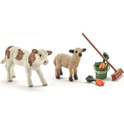 Schleich Stable Cleaning Kit With Calf & Lamb 41422