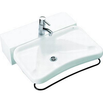 Ifö Tvättställ 2630 med vippbara konsoler och distanslåda