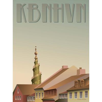 Vissevasse Copenhagen Christianshavn 30x40cm Affisch