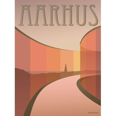 Vissevasse Aarhus Aros 30x40cm Affisch