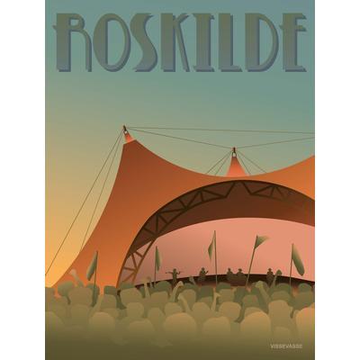 Vissevasse Roskilde Festival 30x40cm Affisch