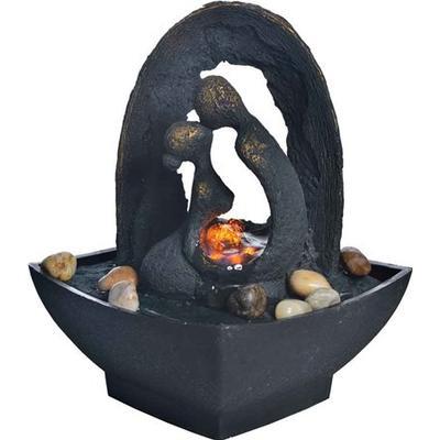 PR Home Love in Bronze Indoor Fountain Skulptur