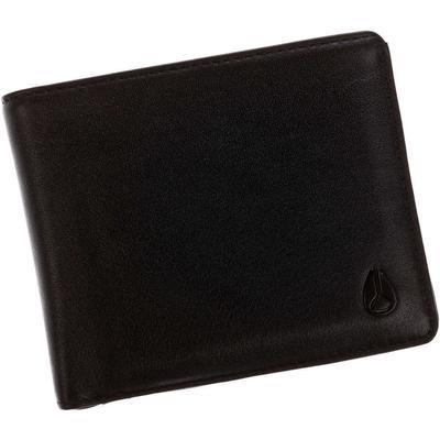 Nixon Satellite Big Bill Bi Fold Id Coin Wallet - Black