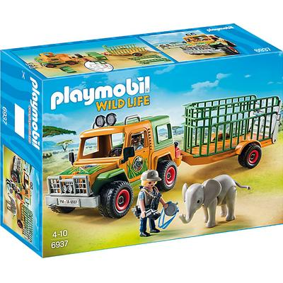 Playmobil Ranger's Truck With Elephant 6937