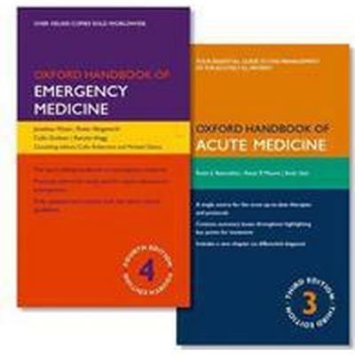 Oxford Handbook of Emergency Medicine + Oxford Handbook of Acute Medicine (Pocket, 2016)