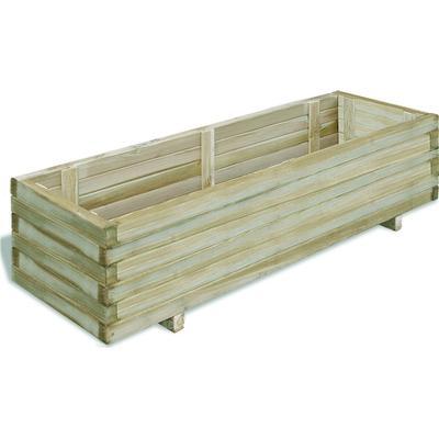 vidaXL Rectangular Wooden Planter 120cm