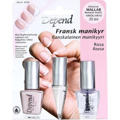 Depend Fransk Manikyr - Rosa 4250