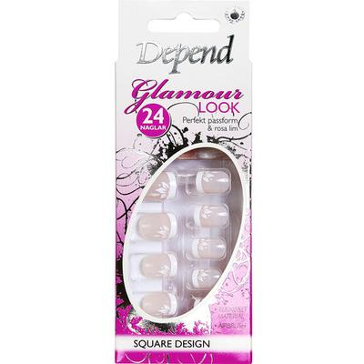 Depend Glamour Look Square Design 6284 White Flower 24pcs